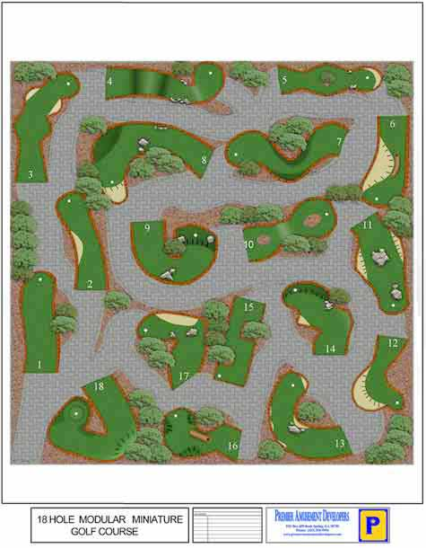 27-Hole Miniature Golf Course Design.