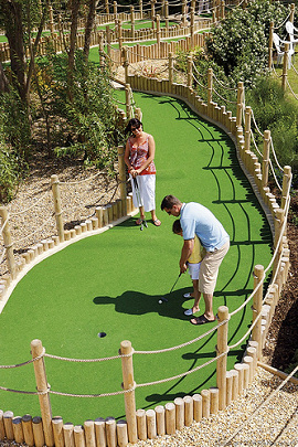 Miniature golf course design.