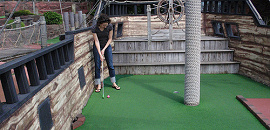 Miniature golf course design and construction.