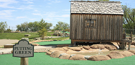 Miniature golf course.