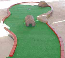 modular miniature golf - brick border.