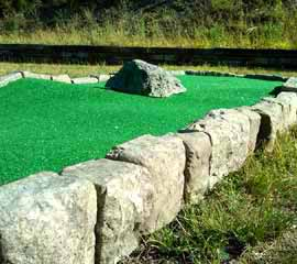 modular miniature golf - stone border.