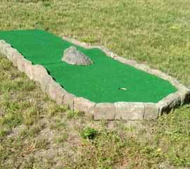 modular miniature golf - complete hole.